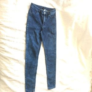 Divided Acid Wash High Rise Skinny Jeans Size 8
